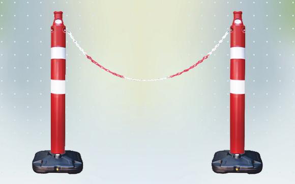 Bariyer duba, zincirli bariyer duba ile mesafenizi koruyun.